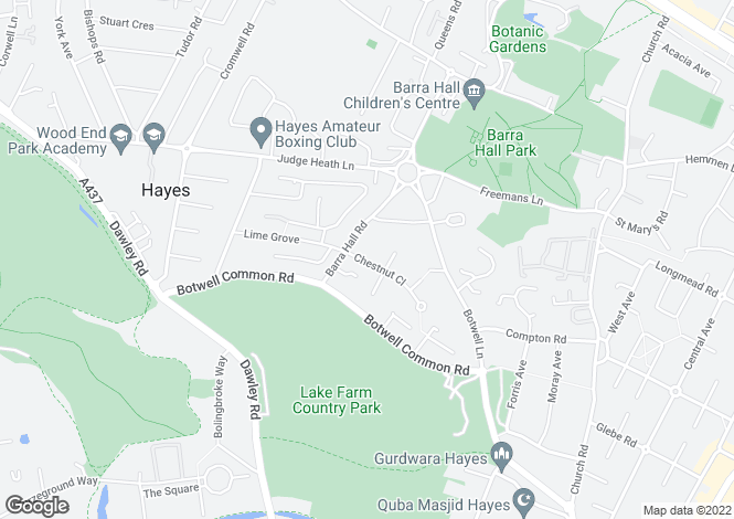 Map for Chestnut Close, Hayes, UB3