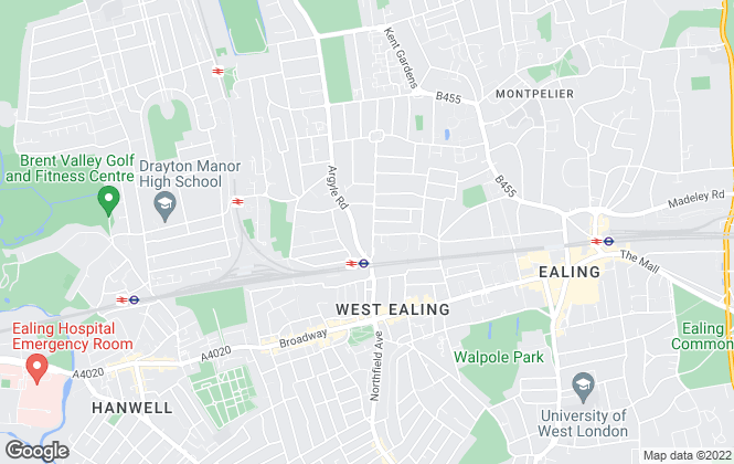 Map for Castle Hill Properties, Ealing