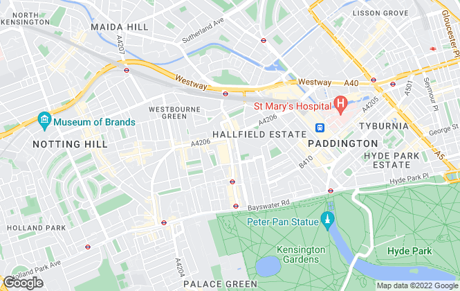 Map for Kinleigh Folkard & Hayward - Lettings, Bayswater