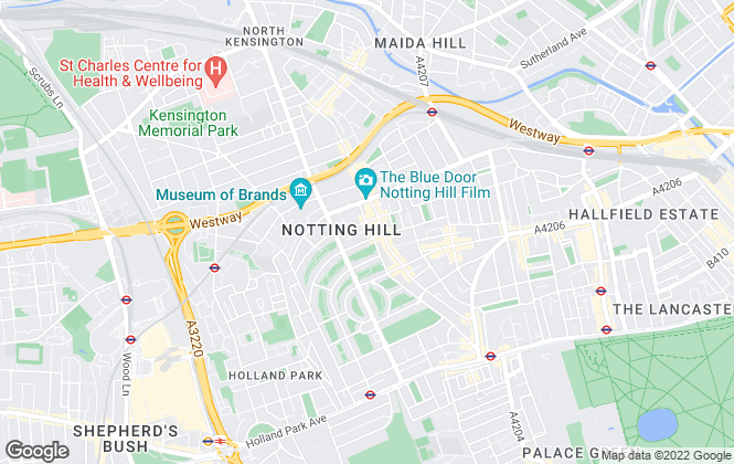 Map for Mountgrange Heritage, Notting Hill