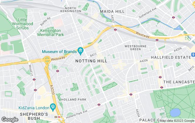 Map for Domus Nova, Notting Hill