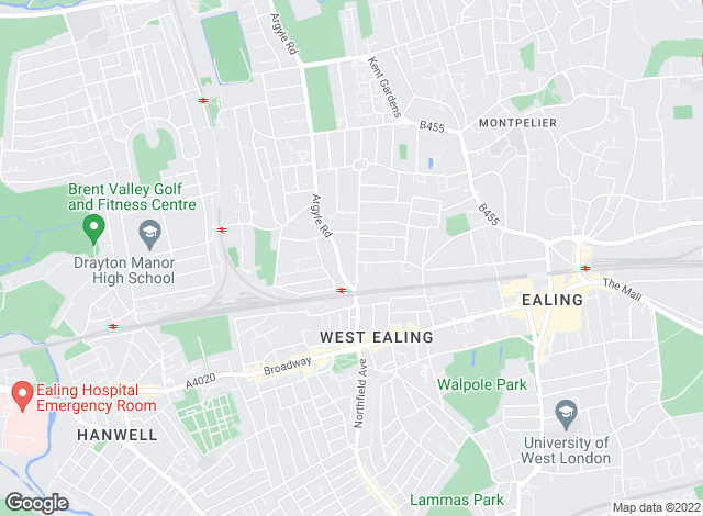 Map for Castle Hill Property Services, Ealing