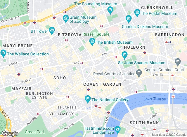 Map for Chesterton Humberts Sales, Covent Garden and West End