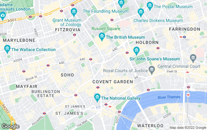 Map for Chestertons Sales, Covent Garden and West End