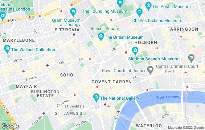 Map for Chestertons Lettings, Covent Garden and West End