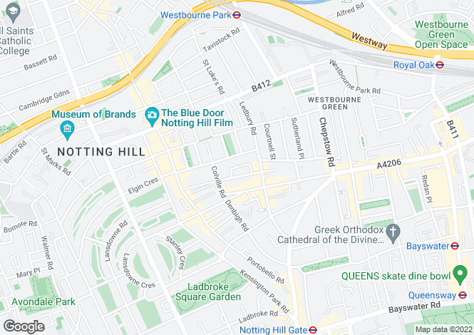 Map for Colville Mews, Notting Hill, W11