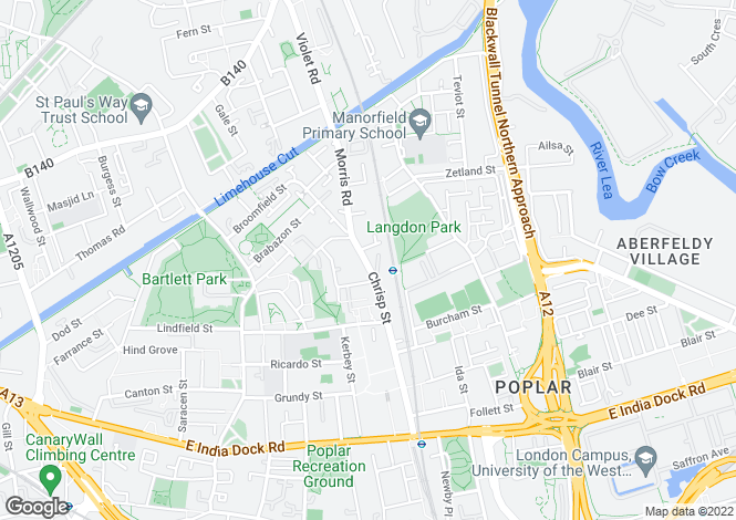 Map for Chrisp Street, Poplar, London