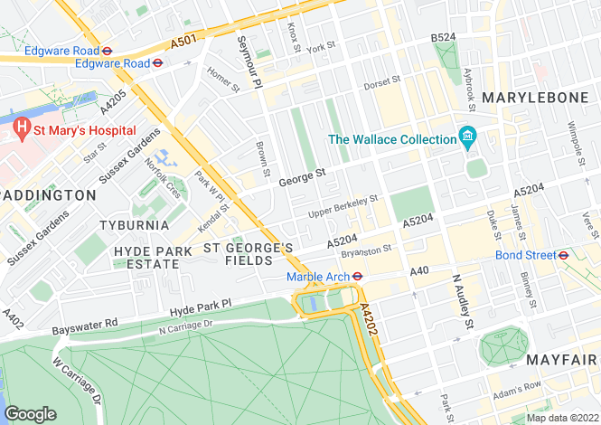Map for Upper Berkeley Street,
