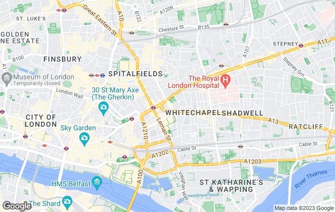 Map for Lourdes Estate Agents, London E1