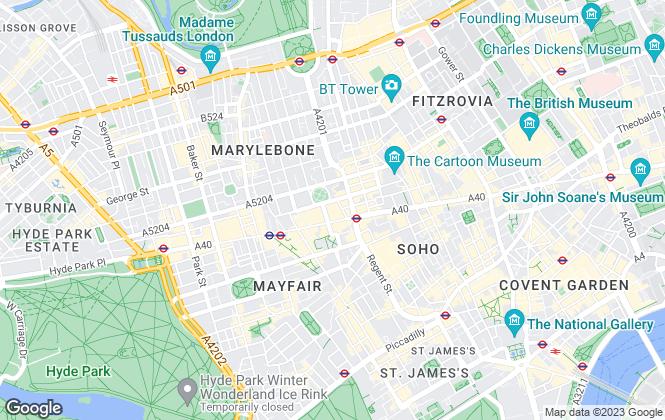 Map for O'Sullivan Property, London