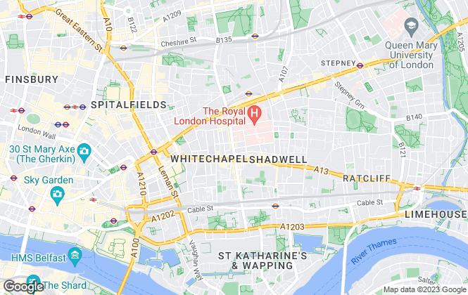 Map for McBryer Beg , London