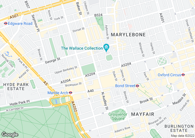 Map for Wigmore Street,
