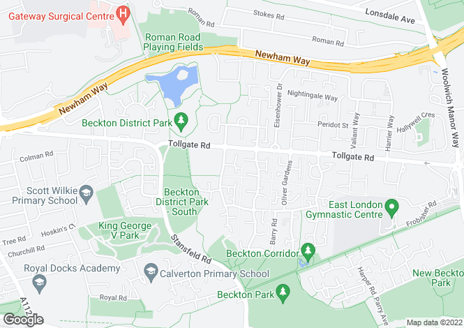 Map for Osprey Close, Beckton, E6