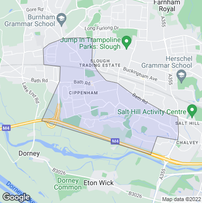 Map of property in Cippenham