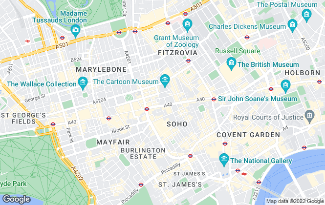 Map for Hamptons International Sales, Mayfair West End