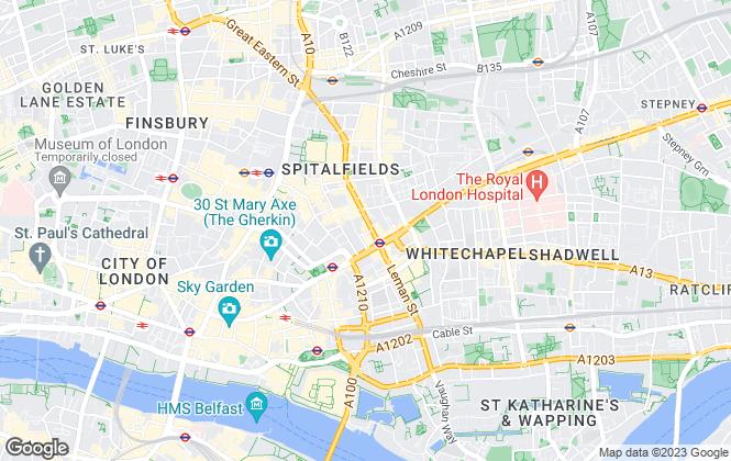 Map for Morgan Randall, Shoreditch