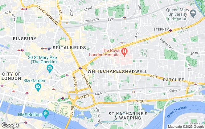 Map for Claremont Estates, Whitechapel