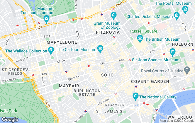 Map for Hamptons Sales, London Residential Development