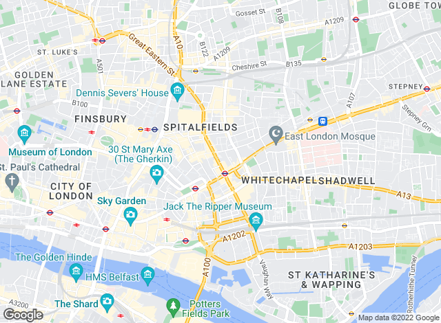 Map for Moving City, London
