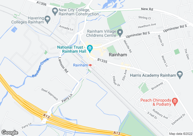 Map for Lapwing House, Capstan Drive, Rainham, RM13
