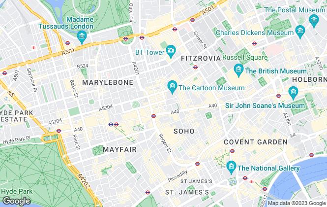 Map for Scraye, London