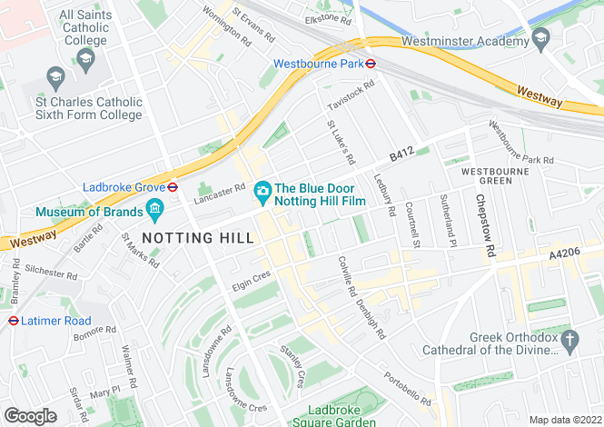 Map for Colville Houses, Talbot Road, Notting Hill, London, W11