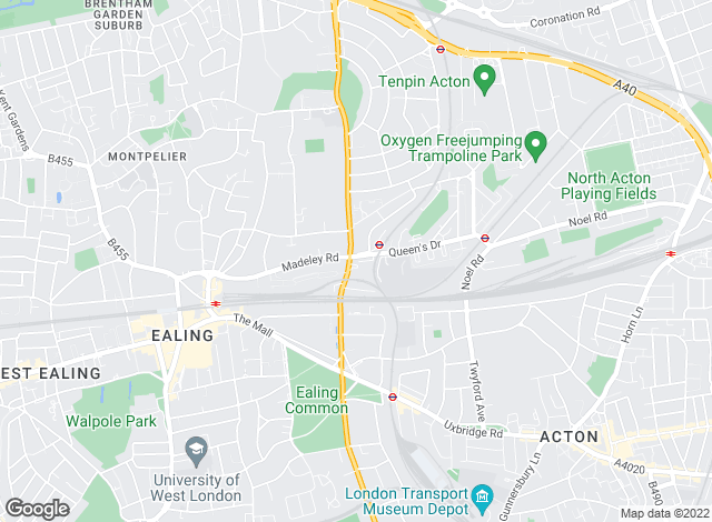 Map for Oaktree (West London) Ltd, Ealing