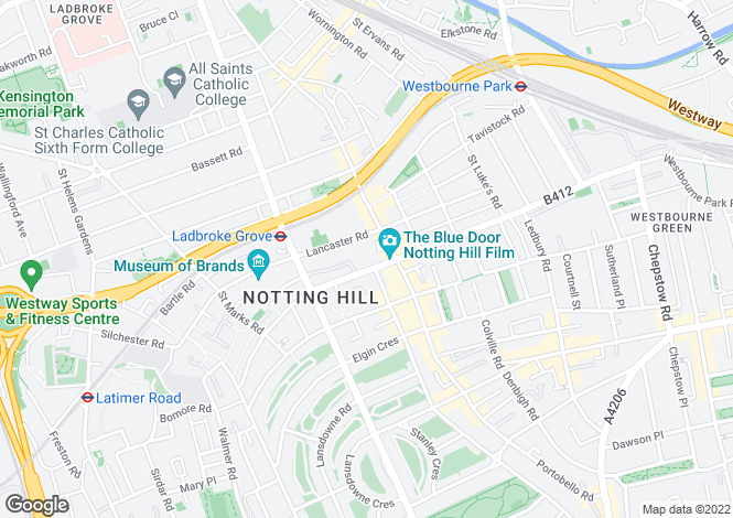 Map for Hayden's Place, Notting Hill, W11 1LY