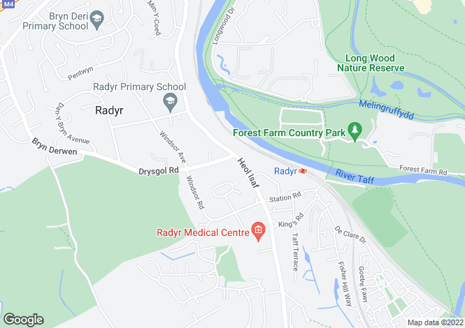 Map for The Lodge, Drysgol Road, Radyr