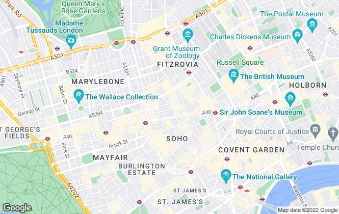 Map for Next Property, London