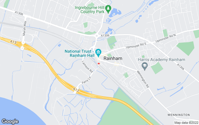 Map for Century 21, Rainham