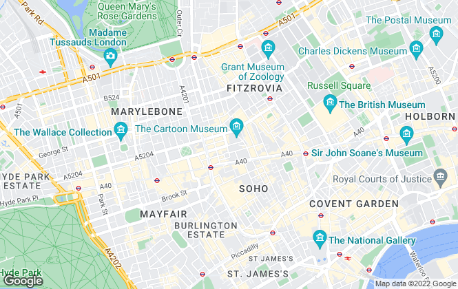 Map for Mallam Advisers LLP, London