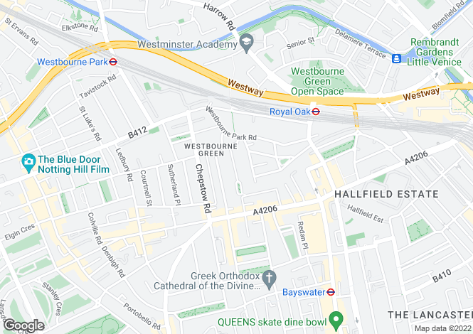 Map for Kildare Terrace, London, W2