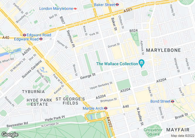 Map for Montagu Square, Marylebone, London, W1H