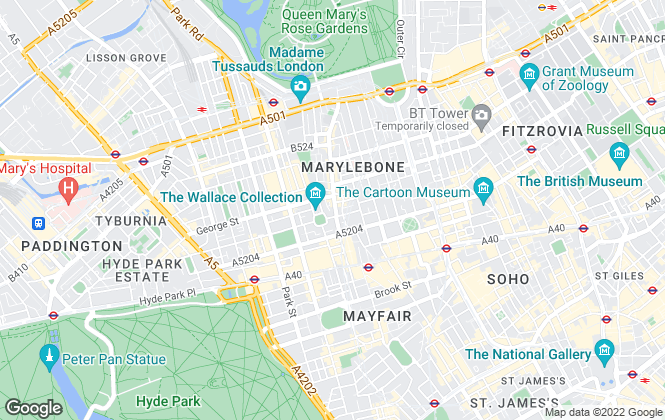Map for Stephen and Matthews, London