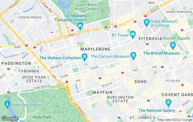Map for GA Residential, London