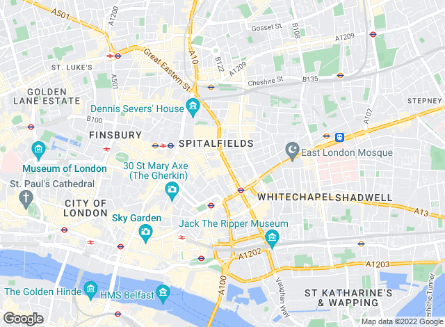 Map for Blueprint Estate Agents Ltd, E1