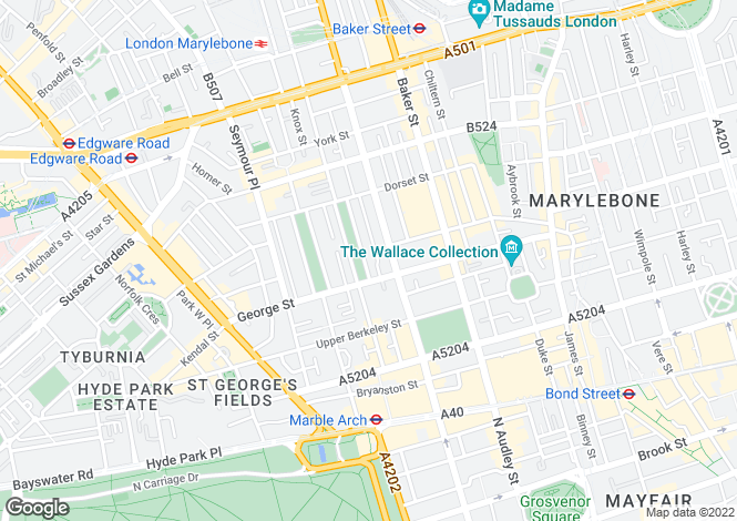 Map for Montagu Square, London
