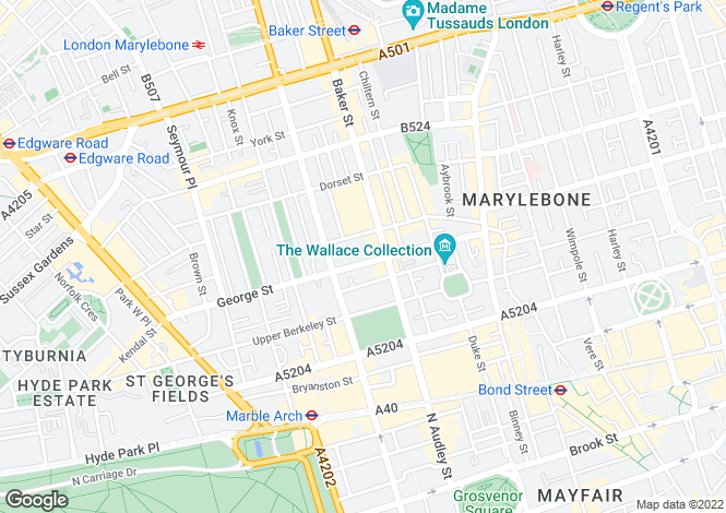 Map for George Street W1U