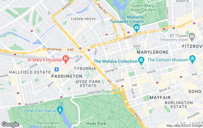 Map for Property International, Marble Arch