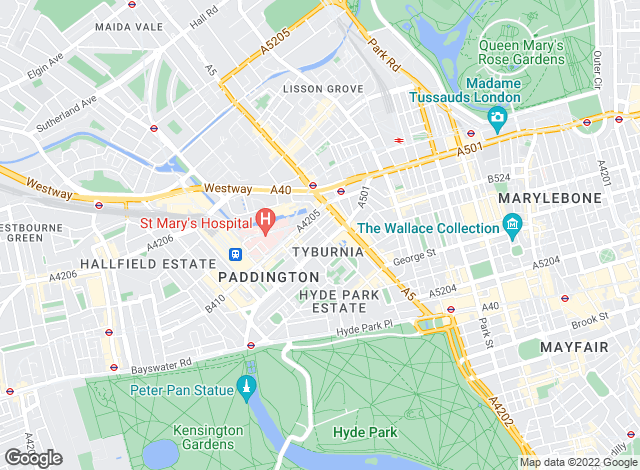 Map for Paddington Estates, Paddington