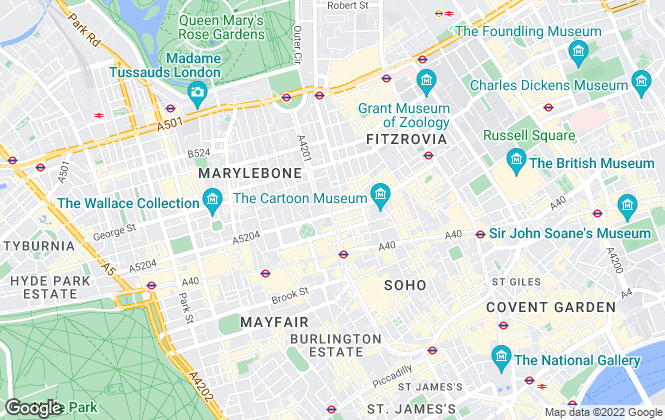 Map for Ladybird living, London