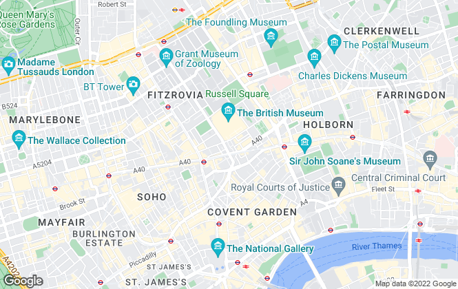 Map for Blueprint Living Apartments, London - Commercial