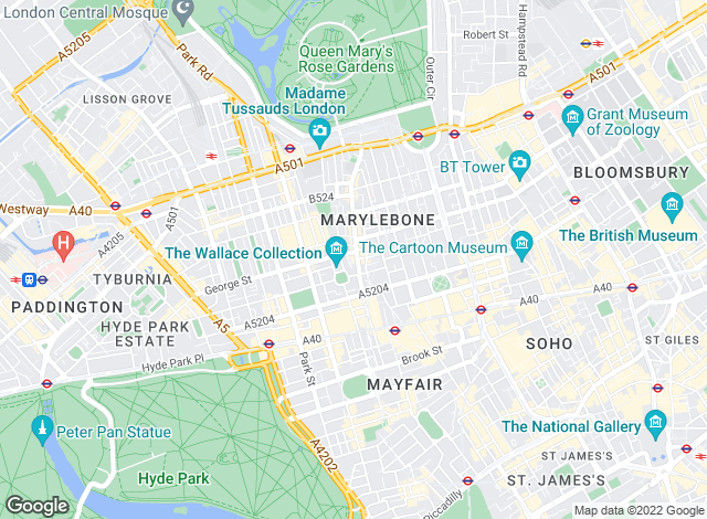 Map for Home House Estates, Marylebone
