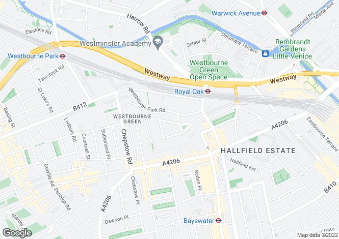 Map for Durham Terrace, London, W2