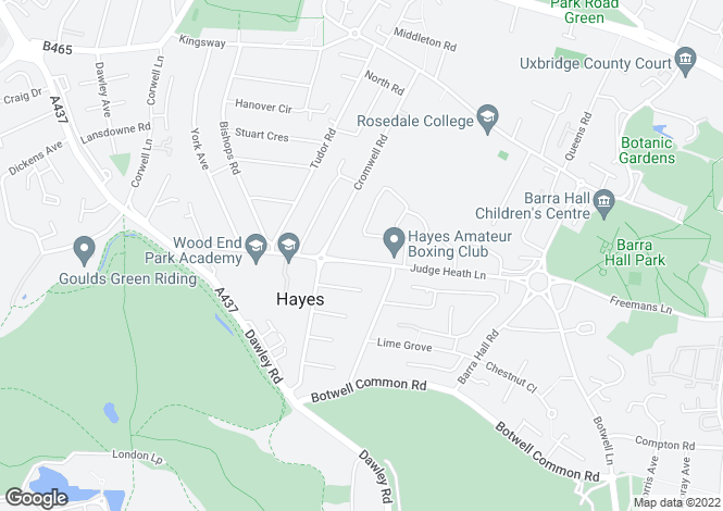 Map for Block O at Arena, Judge Heath Lane,