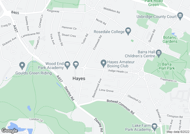 Map for Ealing Crescent at Arena, Judge Heath Lane,