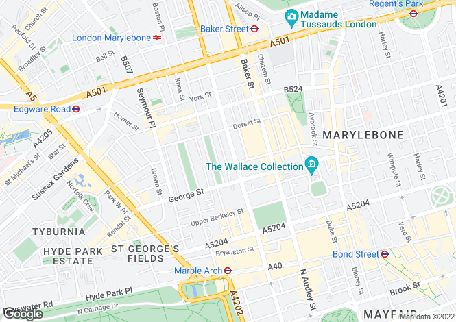 Map for Gloucester Place, London, W1U