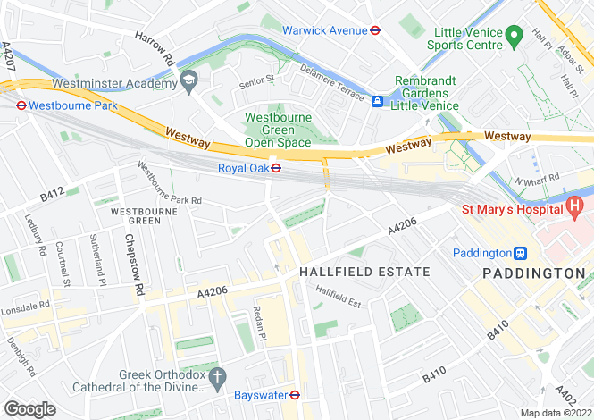 Map for Porchester Square, Bayswater, W2