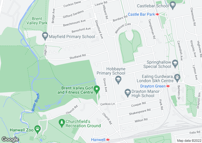 Map for Grove Avenue,Hanwell